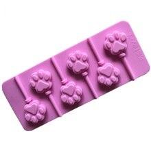 6 отверстий DIY кошачья лапа Форма 3D Силиконовые леденцы формы для выпечки Инструменты для выпечки Конфеты Шоколад клейкий помадка форма для торта инструменты