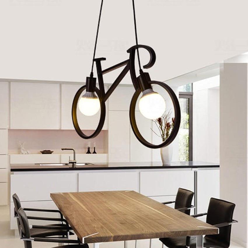 Moderna Bicikl Privjesak Svjetlo Dječja Soba Privjesak Svjetiljka - Unutarnja rasvjeta - Foto 6