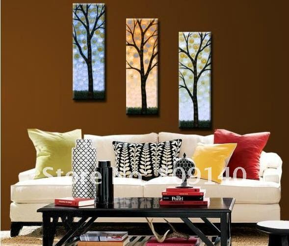 Free Shipping Abstract Tree Beauty Decoration Oil Painting Canvas