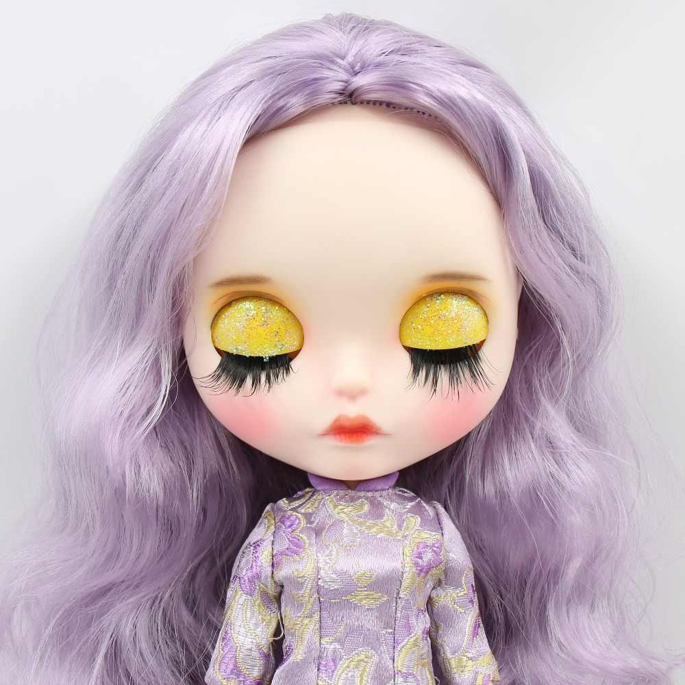 Фабрика blyth кукла 1/6 bjd шарнир тела белая кожа резные губы матовое лицо с бровей индивидуальные лица сонные глаза 30 см BL1049