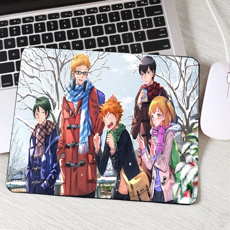 Mairuige Cool Anime Boys Hinata Shoyo Haikyuu Pc Computer Mousepad Anti-skid Wear Rubber Mat for Gamer Mouse Pad To Table Mat
