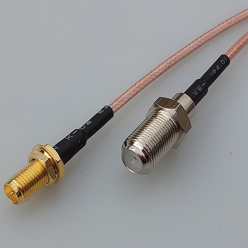 Customize Coaxial RF Cable SMA Male Plug Switch F Female Jack pigtail cable RG316 15CM 6 SMA Adapter GOLD PLATED allishop sma male plug to rp sma female jack coaxial pigtail cable adapter connector 20m rg174