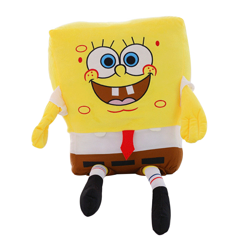 1pc 50cm Sponge Bob Baby Toy Spongebob Plush Toy Soft Anime Cosplay Doll For Kids Toys Cartoon Figure Cushion стоимость