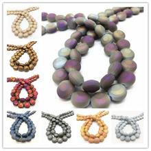 20pcs/lot 10mm Crystal Rubber Matte Faceted Beads Jewelry Necklace Making DIY