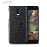 Genuine Leather Phone Case For Galaxy On7 Case Litchi Texture Half Inclusive Ultra Slim Back Cover