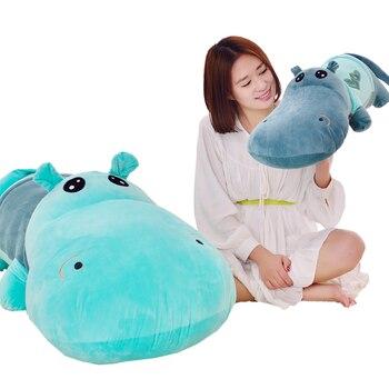Kawaii Cartoon 95cm Cute Hippopotamus Plush Hippo Doll Sleeping Pillow Soft Stuffed Animal Kids Toy Birthday Gift For Children