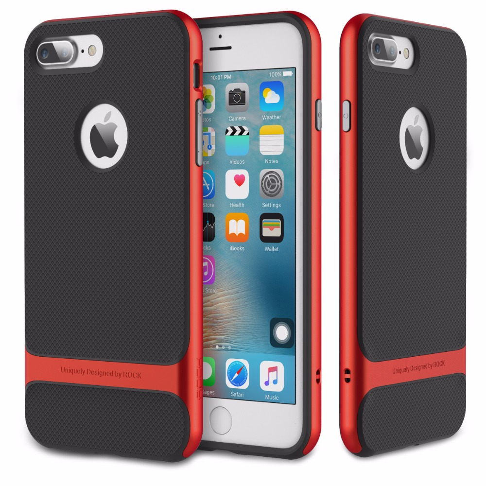 for iPhone 7 iPhone7 Case ROCK Royce Hybrid PC TPU Silicone Protective Cover Hard Case for Apple iPhone 7 Plus Phone Shell Fast