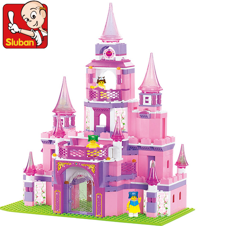 SLUBAN B0152 learning/education Princess series Castle Building Blocks Set Girls Educational Bricks Toys Christmas Gift lego education 9689 простые механизмы