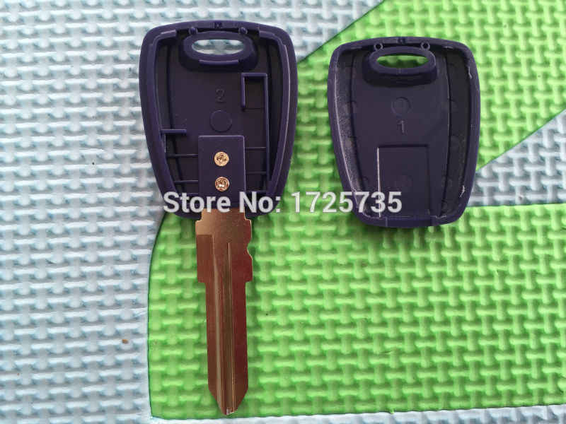 1pc Nieuwe Vervanging Autosleutel Shell Voor Fiat 500 Ducato Transponder SIP22 Ongecensureerd Blade Key Blue Blank Case
