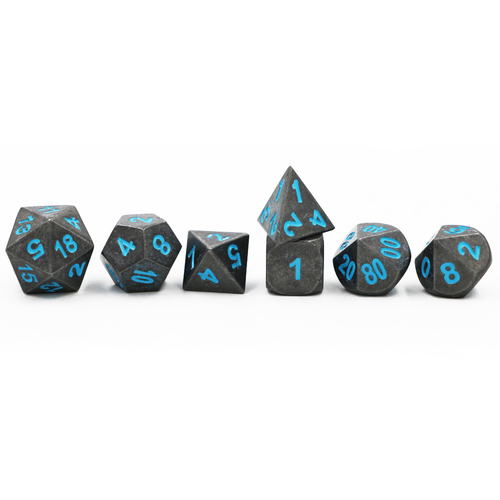 Pack//2pcs 20-sided Polyhedral Dice D20 Role Play Game Silver 1.6cm