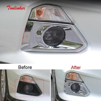 Tonlinker внешняя передняя противотуманная фара чехол наклейка для Nissan ALTIMA 2018-19 автомобильный Стайлинг 2 шт. ABS хромированная крышка наклейки >> tonlinker modified for car Store