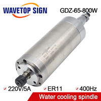 water cooling spindle GDZ 65 800 800w cnc spindle diameter 65mm 0.8kw length 158mm