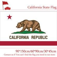 60*90cm 90x150cm califórnia estado bandeira 3x5 bandeira americana 30*45cm carro bandeira para casa voto
