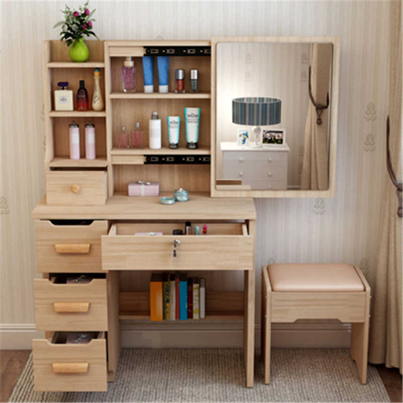 Schminktisch Vanity Toaletka Makeup Box Coiffeuse Drawer Tocador Slaapkamer Mesa Table Korean Bedroom Furniture Quarto Dresser
