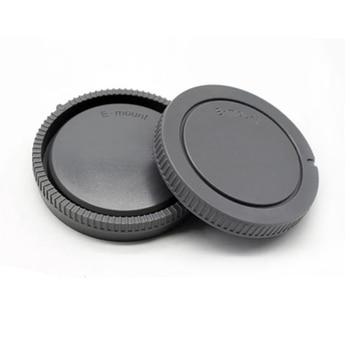 1 Pairs camera Body cap + Rear Lens Cap for Sony NEX NEX-3 E-mount camera lens rear cap for mamiya 67 mount camera rz67 rb67 prosd plastic black