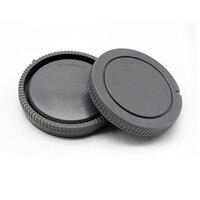 Tüketici Elektroniği'ten Lens Kapakları'de 1 çift kamera gövde kapağı + arka Lens kapağı Sony NEX için NEX 3 e montaj