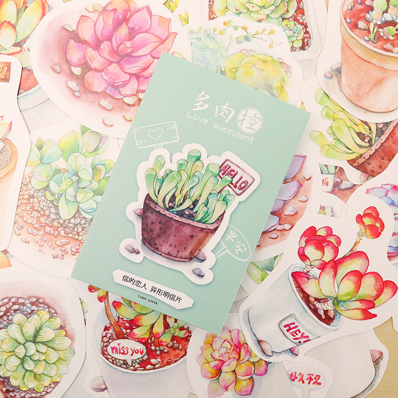 30 pcs/lot succulent plants postcard greeting card christmas card birthday card creative gift cards stationery 30 pcs lot novelty yard cat postcard cute animal heteromorphism greeting card christmas card birthday message card gift cards