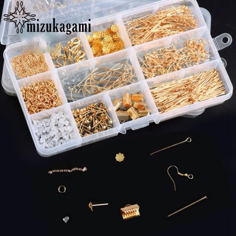 Material Ear Drop Earhook And Ear Ornament Tool Kit 100pcs/lot  DIY Earrings Jewelry Accessories