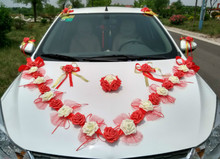 Buy wedding car decoration kit and get free shipping on aliexpress wedding korean floats main front car float car flower decoration kits wedding car flower supplies junglespirit Images
