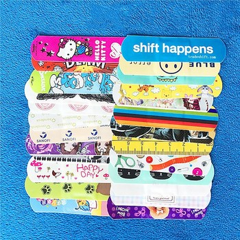 72mmx19mm 200 Pcs Cartoon Bandages Adhesive Bandages Hemostasis Band Aid Sterile Stickers Wound Dressing For Kids