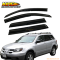 For 03-06 Mitsubishi Outlander Smoked Aero JDM Wind Deflector Stick On Window Visors USA Domestic Free Shipping