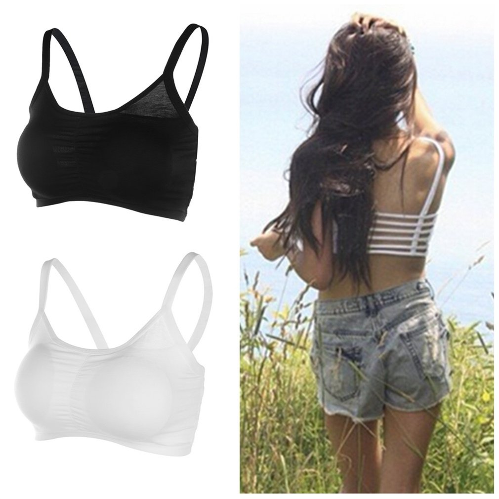 Women Sexy Lingerie Hollow Back Shirt Sport   Tank     Top   Padded Bra Wrap Vest Chest Bra Cropped   Tops   Bustier Summer   Tops