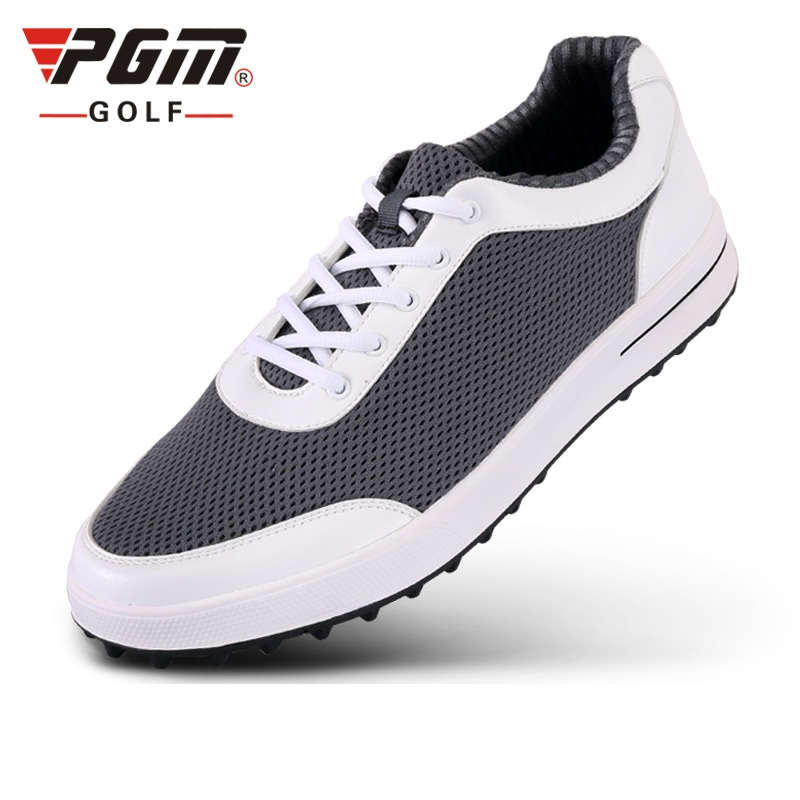 Brand Pgm Mens Golf Air Mesh Shoes Males Breathable Light Weight Golf Sneakers Soft Ventilation Pgm