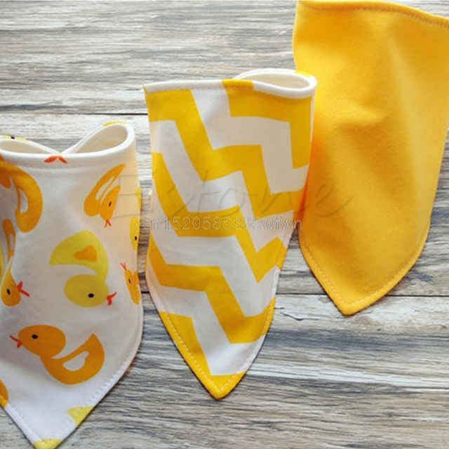 3Pcs Baby Bibs Boy Girls Saliva Towel Bandana Bibs Dribble Kids Head Scarf #HC6U# Drop shipping