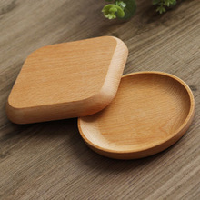 Dinnerware Tableware Round / Square Wood Cake Dishes Home/ Hotel/School Dessert Serving Tray Sushi Plate
