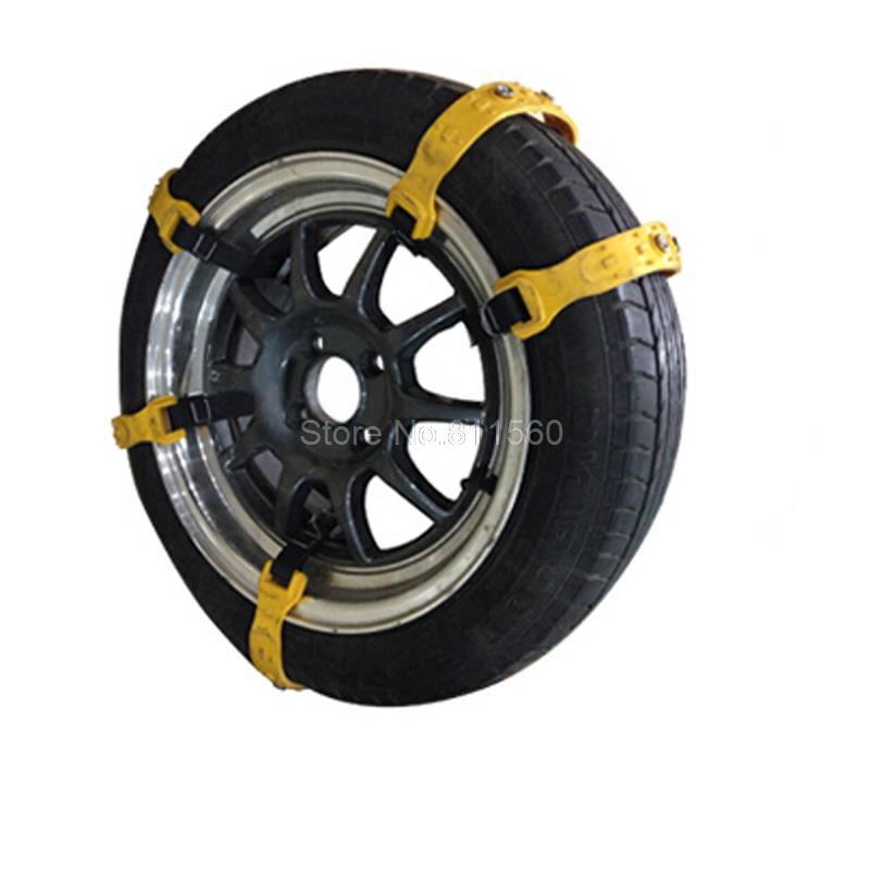 10pcs/Set Car Snow Tire Anti-skid Chains Thickened Beef Tendon Vehicles Wheel Antiskid TPU Chain