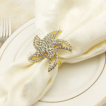 5PCS hotel western starfish napkin buckle ring zinc alloy mat towel