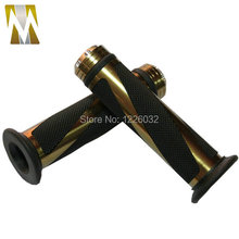Bronze-black мотоцикл 22 мм алюминия и резины 7/8 » с чпу ручка Bar ручки рукоятку