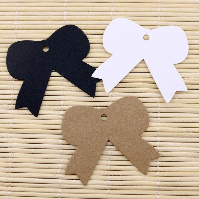 200pcs Lot 5 4x5cm Blank Brown Kraft Paper Earring Hang Tags Lables Cardboard Jewelry