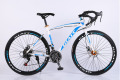 21 speed racing bike 700C*52cm bike steel frame bicycle alloy pedal cycling disc brake road bike no folding bike 160-185CM