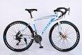 21 velocidade bicicleta de corrida 700C * 52 cm estrutura de aço da bicicleta pedal da bicicleta da liga freio a disco de bicicleta bicicleta de estrada no bicicleta dobrável de 160-185 CM