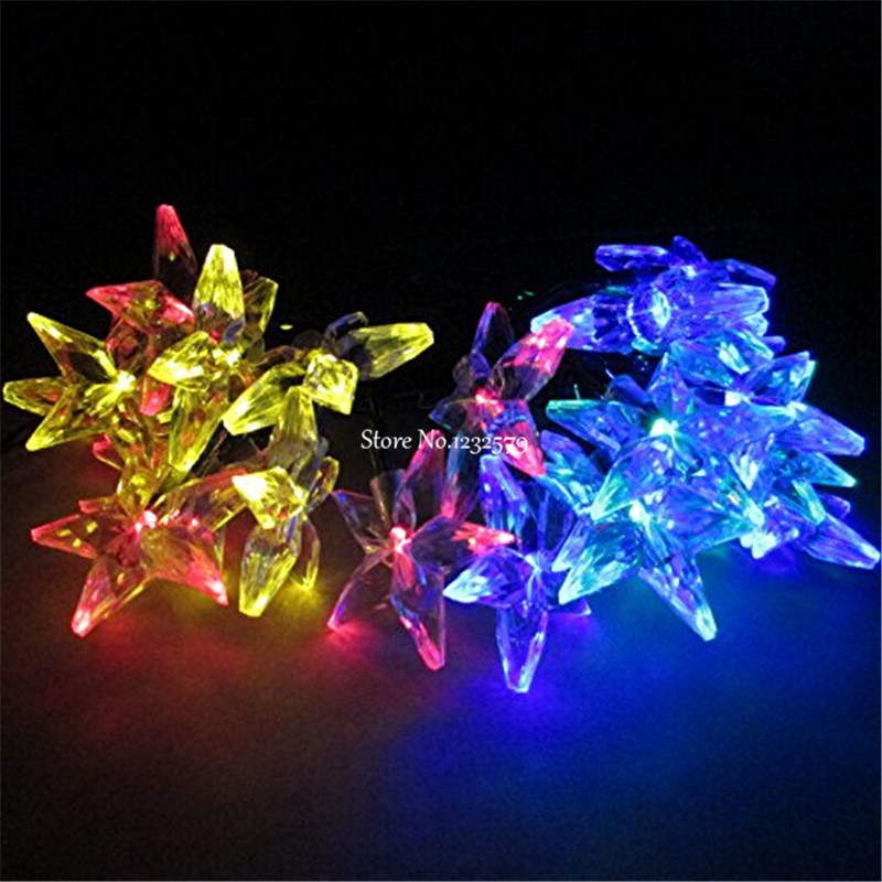 Hot Sale 6m Christmas Lights Solar Lamp 30 Five Pointed Star Led ...