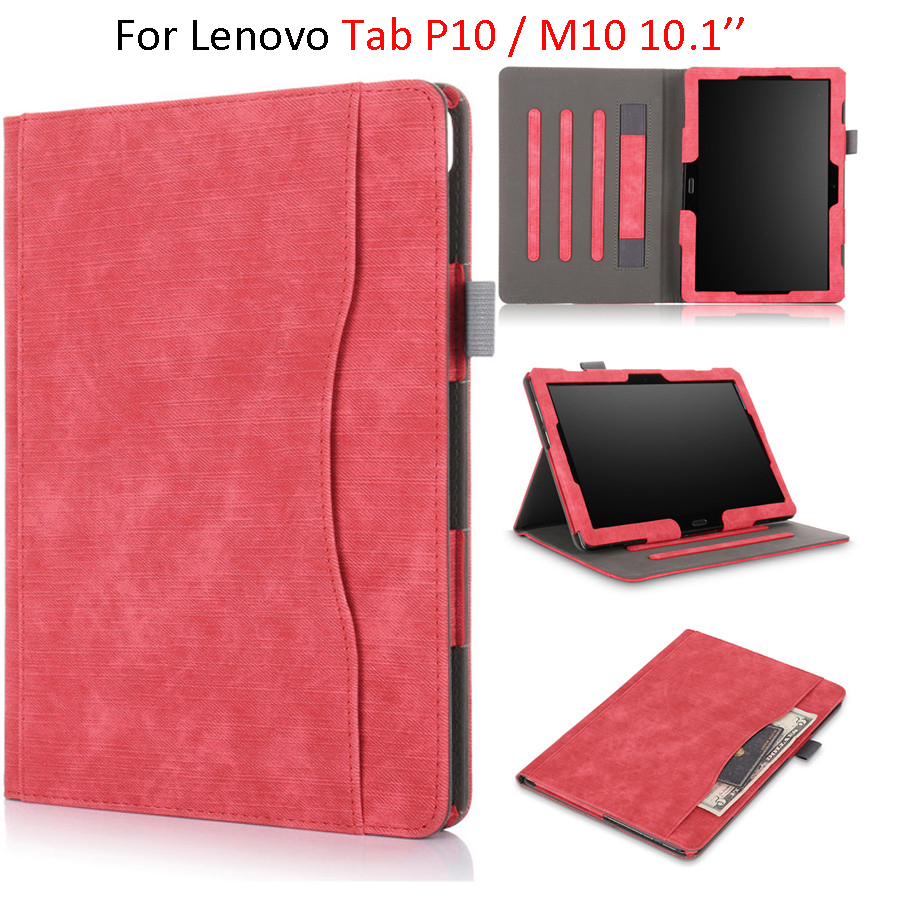 For <font><b>Lenovo</b></font> Tab P10 <font><b>TB</b></font>-X705F <font><b>TB</b></font>-<font><b>X705L</b></font> <font><b>Case</b></font> 10.1'' Slim Magnetic Stand Cover Hand Holder For <font><b>Lenovo</b></font> Tab M10TB-X605F/L <font><b>Case</b></font> image