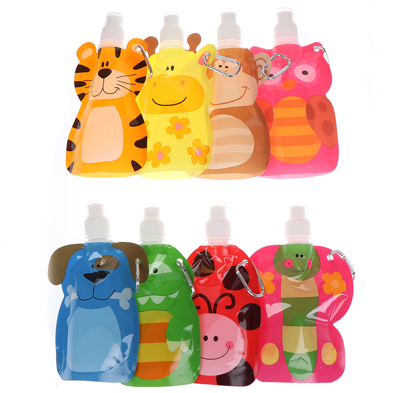 1pcs 380ml Reusable Food Pouch Baby Packaging Reusable Squeeze Pouch Plastic Smoothie Squeeze Bags Refillable Lock Bag