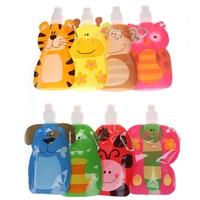1pcs 380ml 재사용 식품 주머니 아기 포장 재사용 가능한 짜기 주머니 플라스틱 스무디 짜기 가방 리필 잠금 가방|컵|엄마와 아이 -
