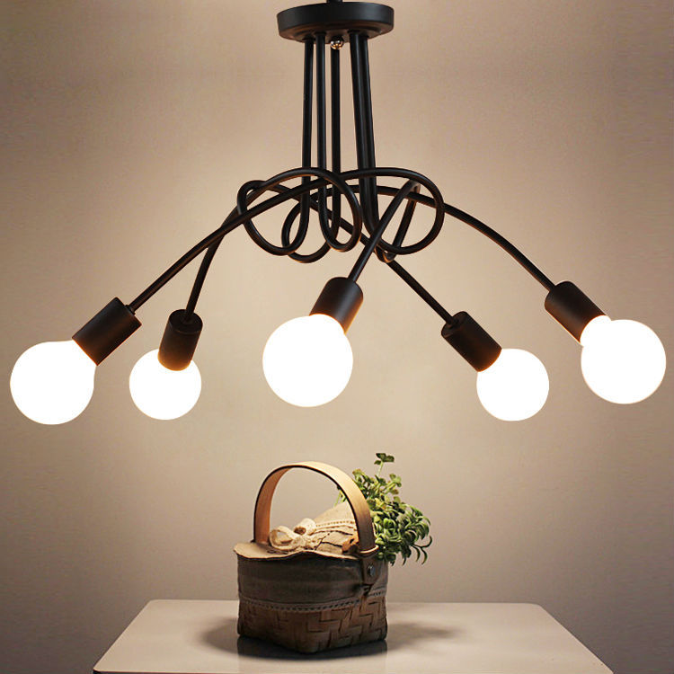 Modern Ceiling Lights Living Room Bedroom Dining Room Lamp Nordic Simple Style Iron Metal Spray Painting Process Black White Red a1 master bedroom living room lamp crystal pendant lights dining room lamp european style dual use fashion pendant lamps