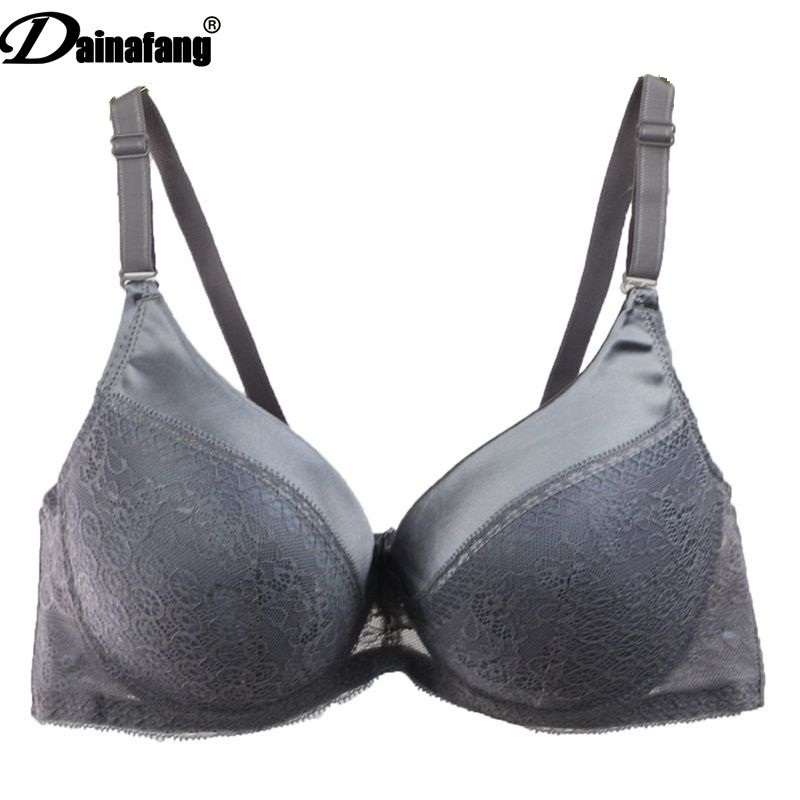 Dainafan Brand sexy lace push bra for women intimate CD large bra suit embroidery rich and noble underwear 1