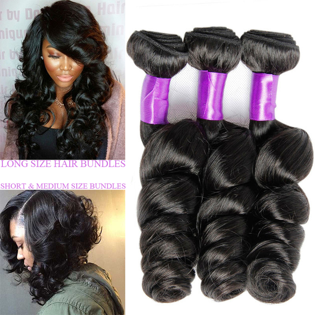 Kings Hair Factory Unprocessed Brazilian Loose Wave Virgin Hair 3 Bundles Brazilian Virgin Hair Loose Wave Hair Weave Bundles