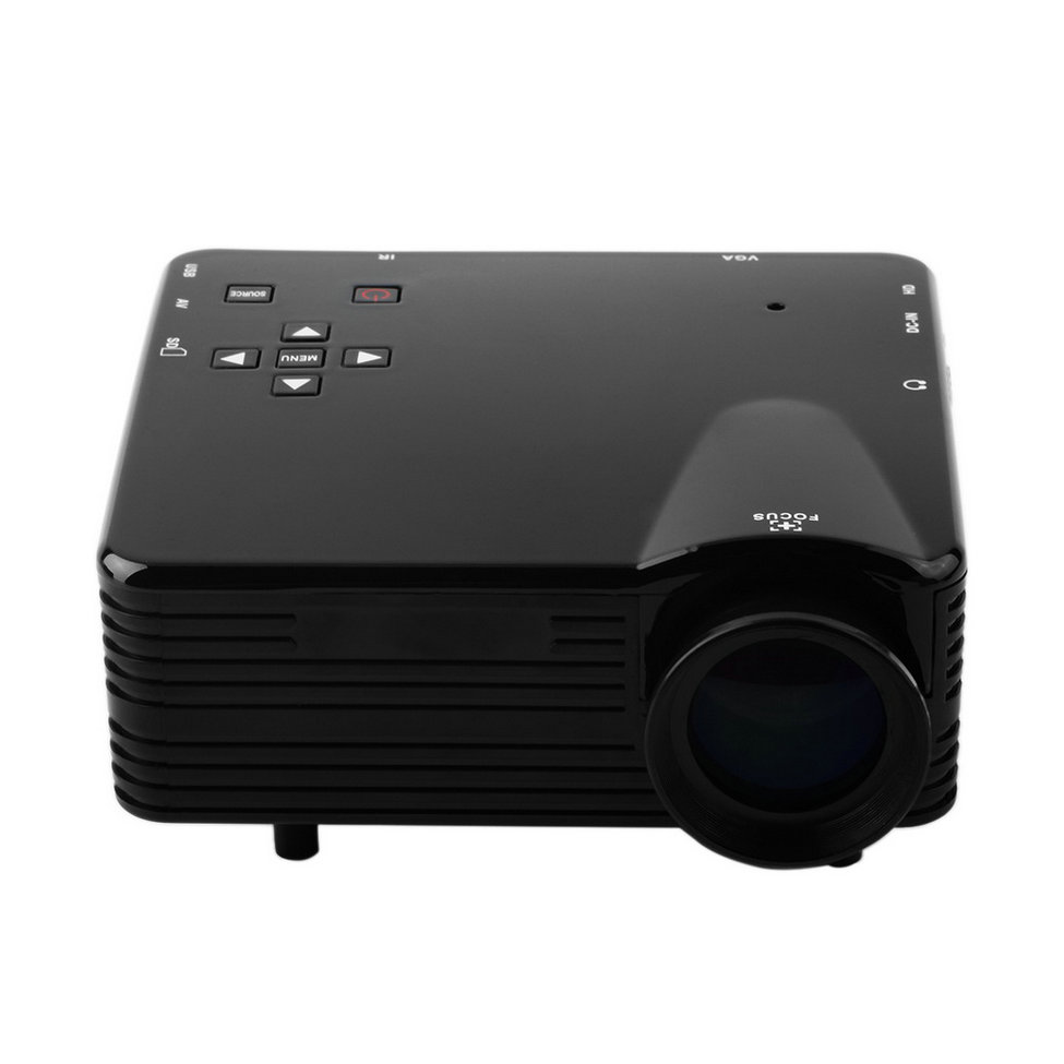 Cheap hot new home cinema multimedia led lcd projector vs for Usb projector reviews