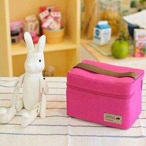 Image 4 - Tragbare Thermische Isolierte Kühler Picknick Mittagessen Taschen Reise Carry Lagerung Tote Tasche