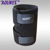 Aolikes Wrap Around Black Support Wrap Compression Thigh Sleeves Leg Knee Pads Brace Hamstring Bandage Sports