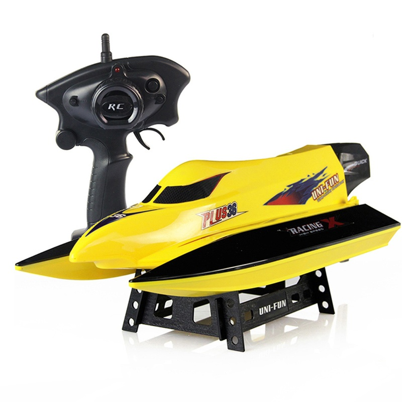 High speed rc boat HQ959 2.4G rc boat speedboat electric remote control rc speed radio control racing boat rc toy for kids gifts aluminum water cool flange fits 26 29cc qj zenoah rcmk cy gas engine for rc boat