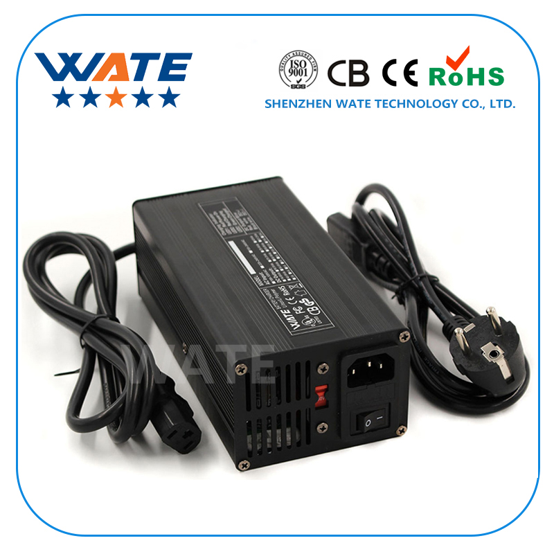 50.4V 6A Charger 12S 44.4V E-Bike Li-ion Battery Smart Charger Lipo/LiMn2O4/LiCoO2 battery Charger Global Certification
