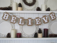 Free Shipping 1 SET Romantic BELIEVE Wedding Bunting Banner Wedding Decoration Party Supplies Photo Booth Prop
