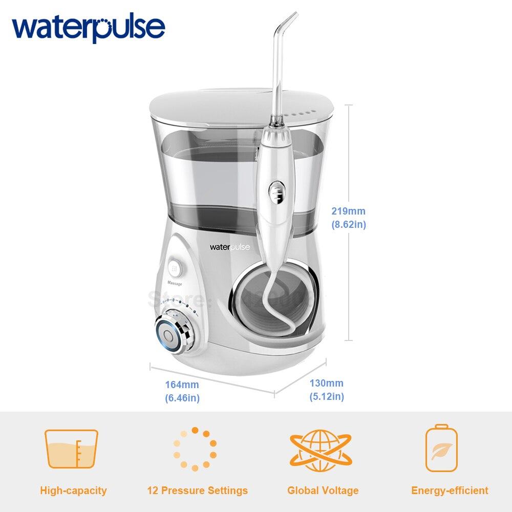 Image 4 - Waterpulse V660 歯科フロッサ電源デンタルフロス水ジェット口腔ケア歯クリーナーで洗浄器 10 先端