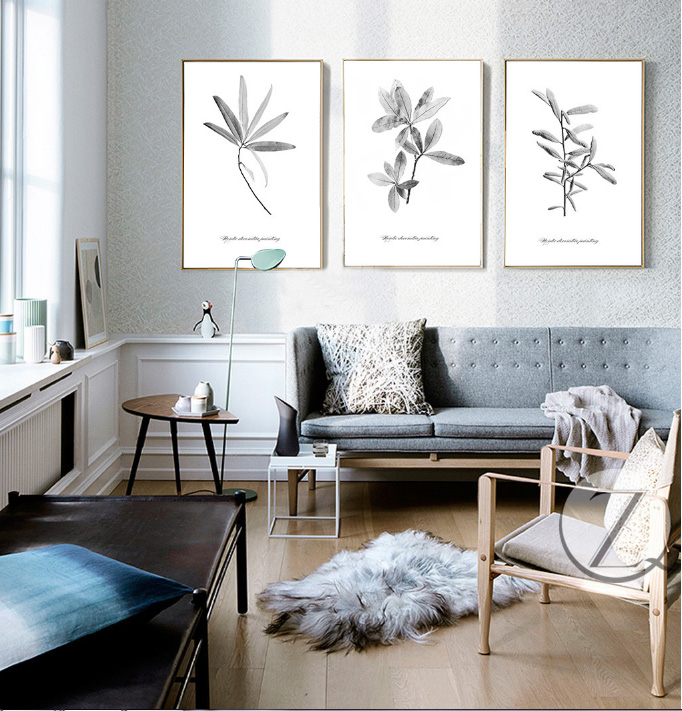 moderno fresco alce un alivio caja de tripleenvo pintura decorativa sin marco pintura decorativa